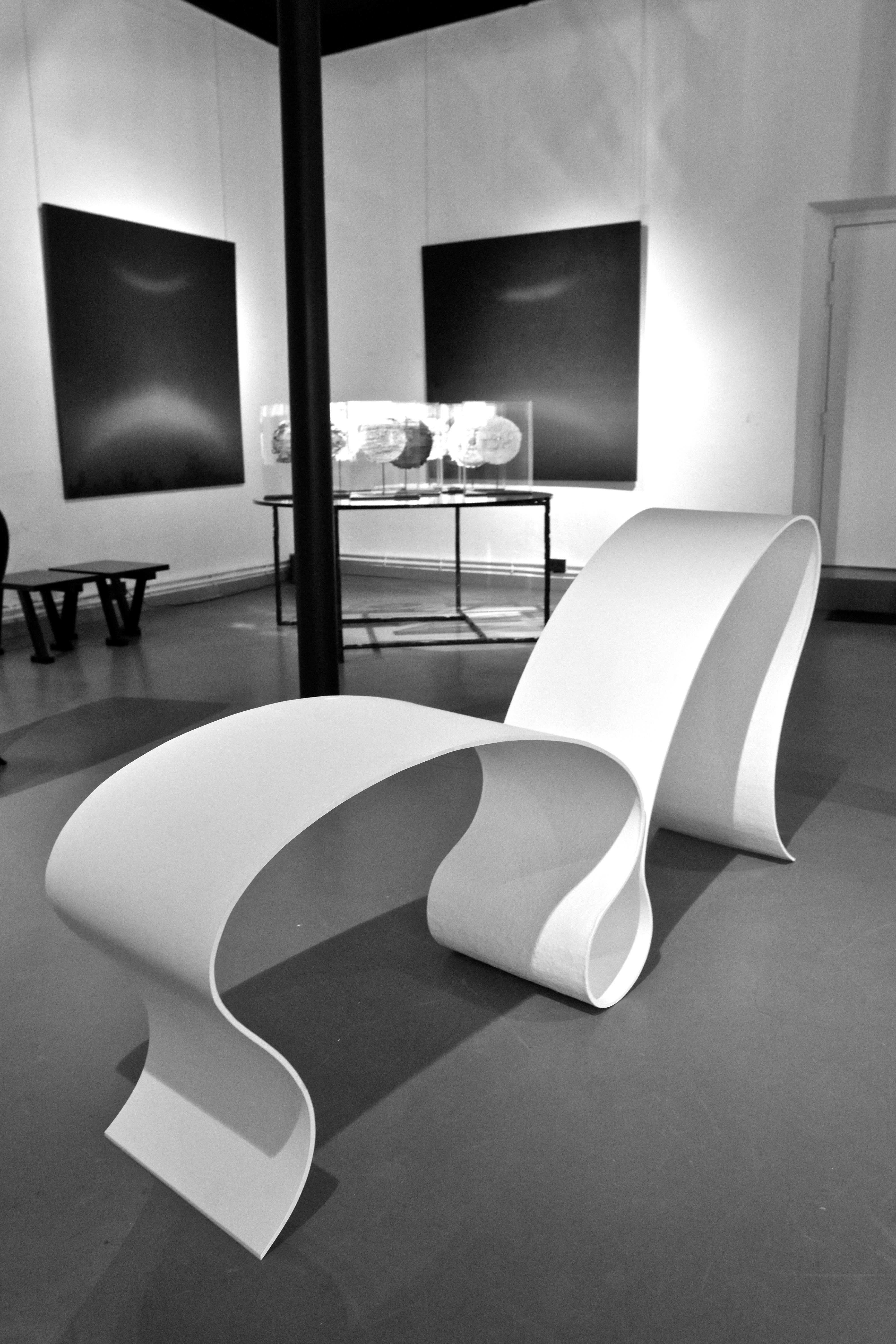 Chaise longue blanche